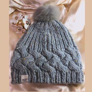 UGG Australia Gray Wool Zermatt Beanie